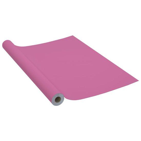 shumee Okleina meblowa, fioletowa, wysoki połysk, 500x90 cm, PVC