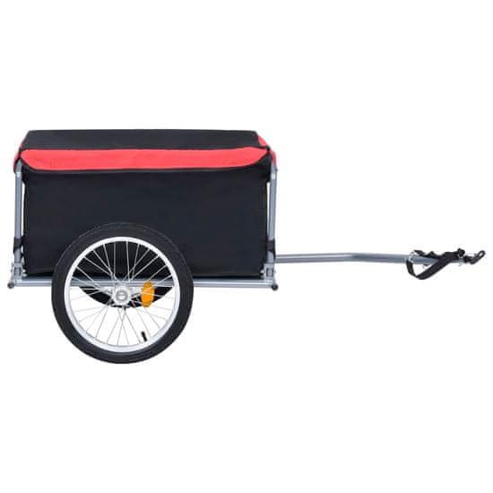 shumee Kolesarska prikolica črna in rdeča 65 kg