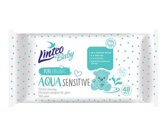 LINTEO Vlhčené ubrousky Baby Aqua Sensitive