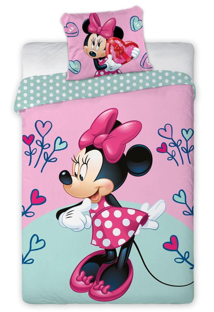 Faro Dětské povlečení Minnie Hearts Flower