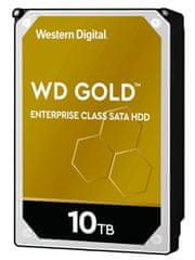 Western Digital Gold Enterprise Class trdi disk, 10 TB, SATA 6 Gb/s, 7200, 256 MB