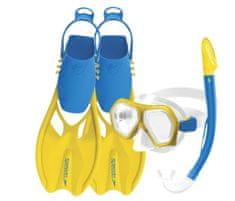 Speedo Leisure potapljaški set, otroški, dvojne leče + plavuti, L/XL