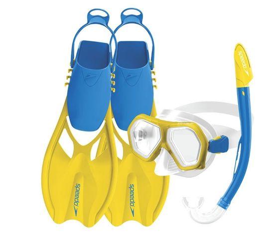 Speedo Leisure set za ronjenje, dječji, dvostruke leće + peraje, uni