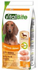 VitalBite hrana za odrasle pse malih in srednjih pasem, sveži piščanec, 4 x 1,5 kg