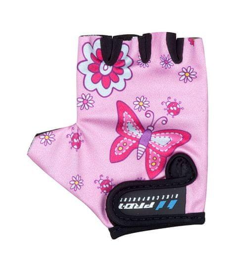 Pro-T Dětské cyklistické rukavice BAMBINO - motiv Motýlci