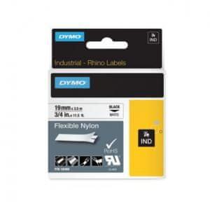 Dymo Flexibilná nylonová páska D1 19mm biela/čierna