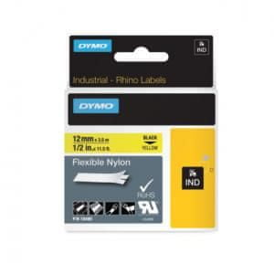 Dymo Flexibilná nylonová páska D1 12 mm žltá/čierna