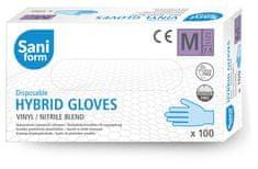SaniForm Profi vinyl-nitrilové rukavice modré 100ks FDA, CE, EN455 (vel. M)