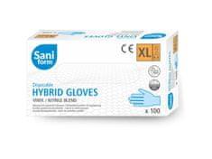 SaniForm Profi vinyl-nitrilové rukavice modré 100ks FDA, CE, EN455 (vel. XL)