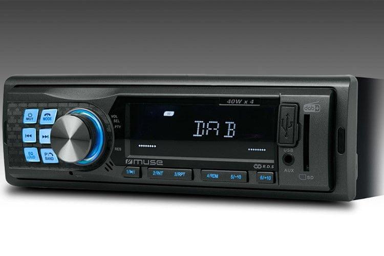 Muse M-199DAB, autorádio s USB, DAB a BT