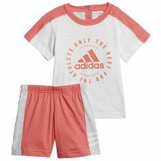Adidas  detská súprava biela oranžová 18M