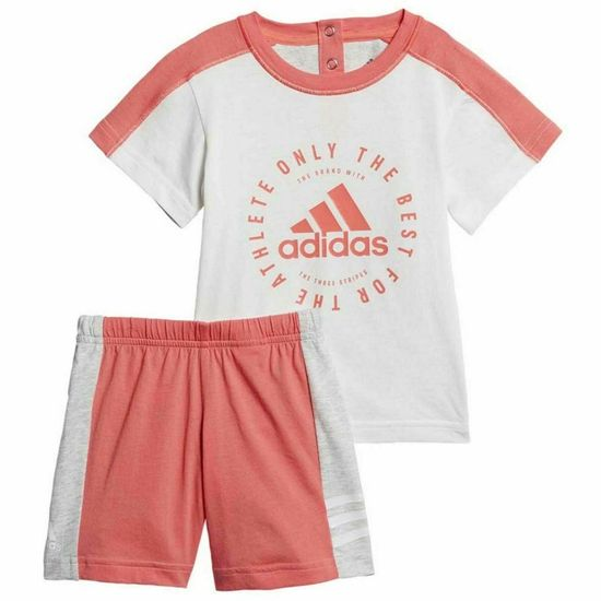 Adidas  detská súprava biela oranžová