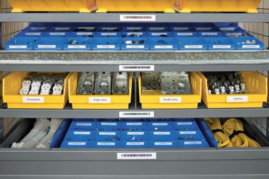 Dymo Rhino 18486 traka, 12mm x 5,5m, crno / metalik, trajni poliester