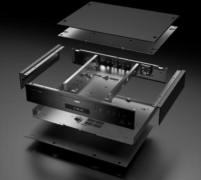 Odtwarzacz Panasonic 4K wysokiej jakości konstrukcja wytrzymałe aluminium redukcja drgań dac 192 kHz 32bit wav flac alac dsd