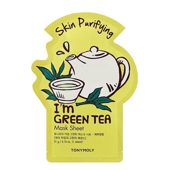 Tony Moly Čistiaca plátýnková maska I`m Green Tea (Skin Purifying Mask Sheet) 21 ml
