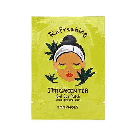 Tony Moly Szemkörnyékfrissítő gélpárnák I`m Green Tea (Refreshing Gel Eye Patch) 21 ml