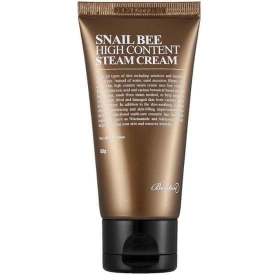 Benton Snail Bee (High Content Steam Cream) 50 g hidratáló és tápláló bőrápoló krém csigakivonattal