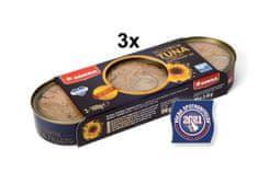 SOKRA Tuniak žltoplutvý filety v slnečnicovom oleji 3x3pack