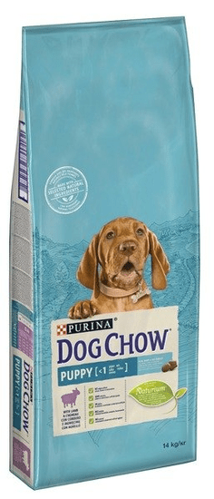 shumee Purina Dog Chow Puppy Lamb 14 kg - suché krmivo pre šteňatá s jahňacím mäsom 14 kg