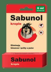 shumee Dermapharm sabunol krople dla psów przeciwko pchłom i kleszczom 6 ml