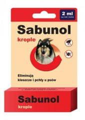 shumee Dermapharm sabunol krople dla psów przeciwko pchłom i kleszczom 2 ml