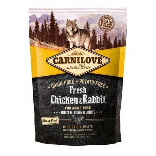 shumee Carnilove friss csirke és nyúl felnőtteknek 1,5 kg - száraz étel felnőtt kutyáknak, csirke és nyúl 1,5 kg