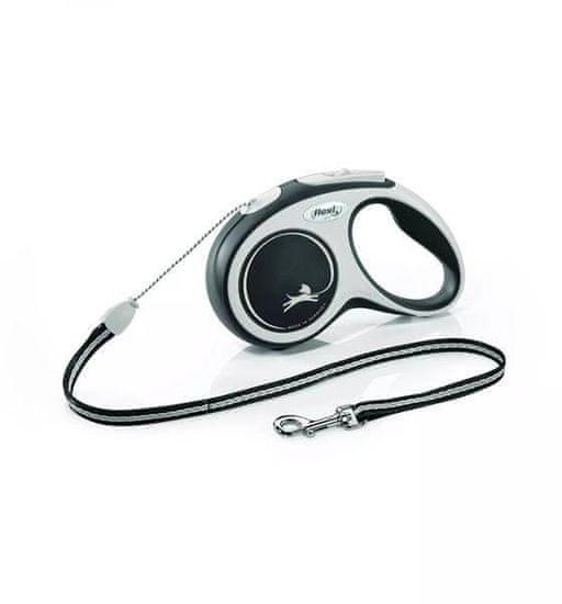 shumee FLEXI Behúzható póráz New Comfort S, 5 m kötél, fekete színű