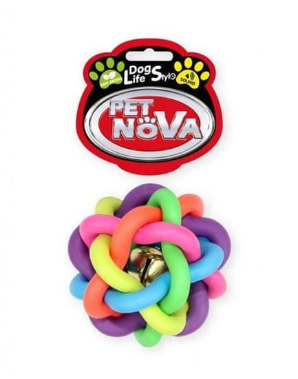 shumee Pet Nova DOG LIFE STYLE Szőtt labda 6cm, színes, menta aroma
