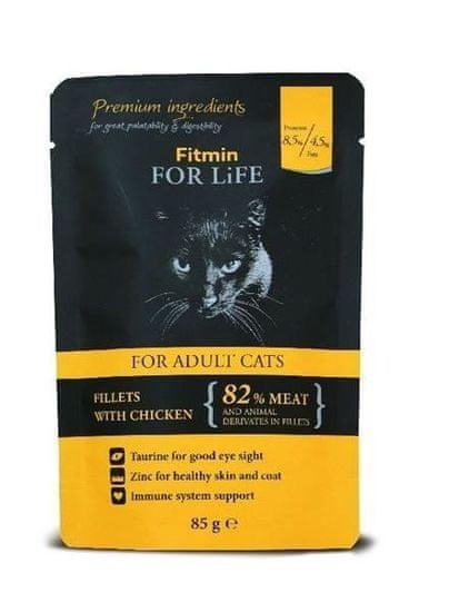shumee Fitmin For Life Adult Chicken - nedves táplálék felnőtt macskáknak, csirke 85 g
