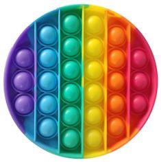 Teddies Bubble pops Praskajúce bubliny antistresová spoločenská hra kruh dúha