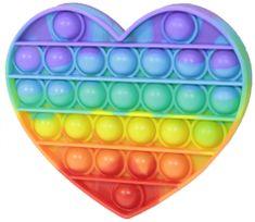 Teddies Bubble pops Praskajúce bubliny antistresová spoločenská hra srdce dúha