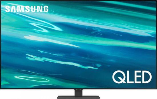 SAMSUNG QE75Q80AATXXH QLED Smart LED Televízió, 189 cm, 4K Ultra HD, Carbon Silver