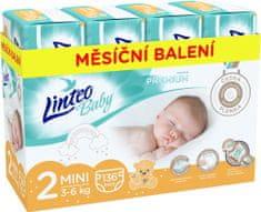 LINTEO Plenky Baby Prémium MINI (3-6 kg) 136 ks
