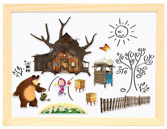 Bino Magnetická tabulka Máša a medvěd