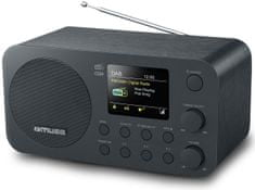 Muse M-128DBT, DAB + / FM rádio s Bluetooth, černá