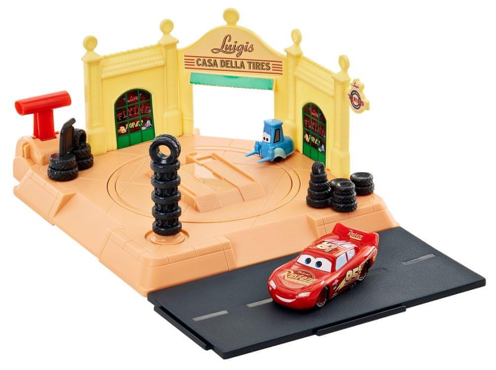 Mattel Cars Action Shifters Luigiho obchod s pneumatikami