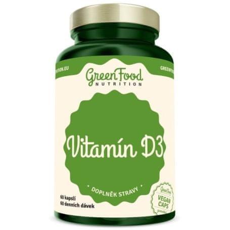 GreenFood Vitamín D3 - 60 kapslí
