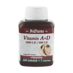 MedPharma Vitamin A + D (5000 I.U./400 I.U.) - 107 tobolek