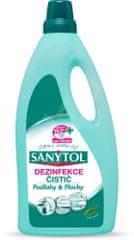 SANYTOL Dezinfekční čistič na podlahy a plochy- eukalyptus (1 l)