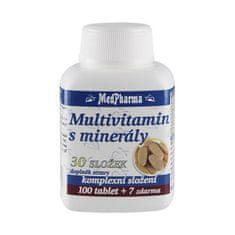 MedPharma Multivitamin s minerály 30 složek - 107 tablet