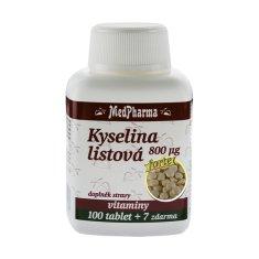MedPharma Kyselina listová 800 µg - FORTE - 107 tablet