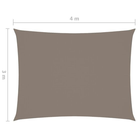 shumee Senčno jadro oksford blago pravokotno 3x4 taupe