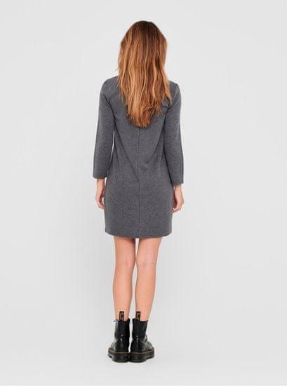 Jacqueline de Yong šedé šaty Gigi