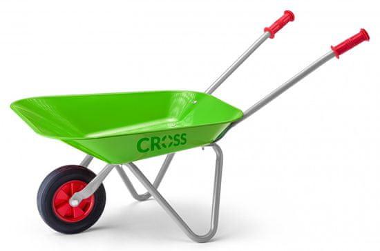 Cross samokolnica, kovinska, zelena