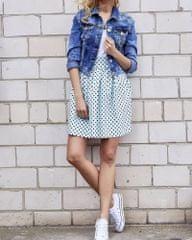 TFG Svetlo modrá bodkovaná sukňa EB027 Veľkosť: L