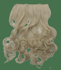 Vipbejba Sintetični nevidni/flip-on lasni podaljški, skodrani, platinum blond F19