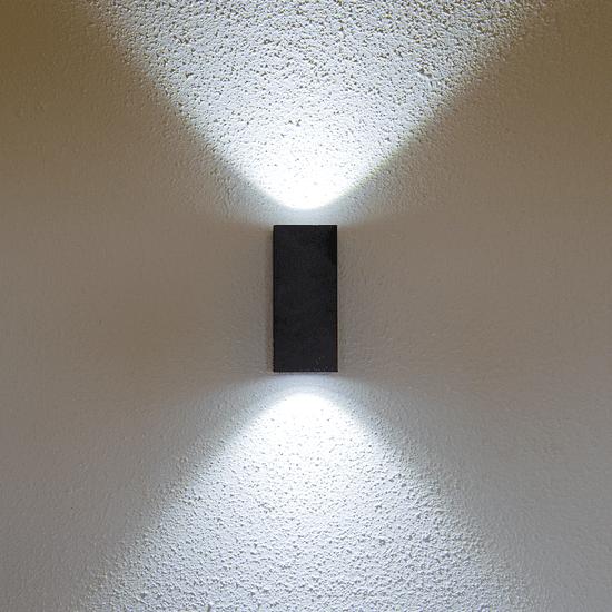 LED PRIHODNOST stenska LED svetilka JD8002 - črna