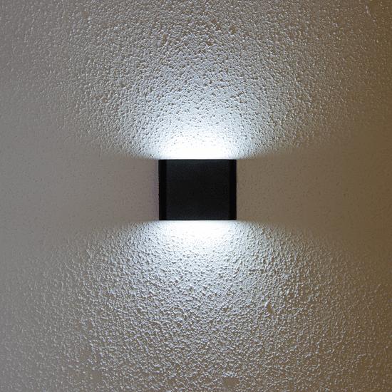 LED PRIHODNOST stenska LED svetilka JD8023 - črna