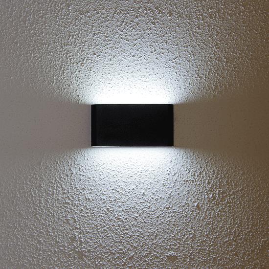 LED PRIHODNOST stenska LED svetilka JD8024 - črna