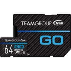 TeamGroup Go microSDXC spominska kartica, 64 GB, U3 + SD adapter